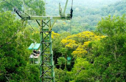 Gamboa lake, aerial tram and ecological exhibition